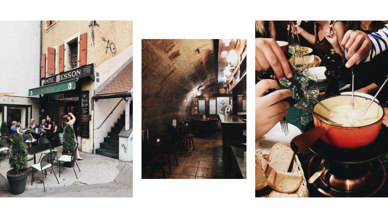 Un week-end à Lausanne, Pinte Besson